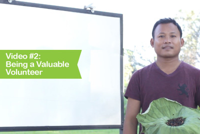 Video #2: Being a Valuable Volunteer