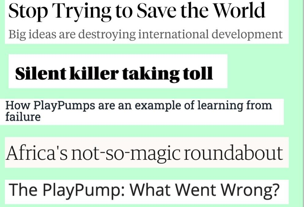 PlayPumps: When Good Intentions Go Bad